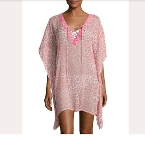 NWT Letarte Sheer Leopard Lily Coverup